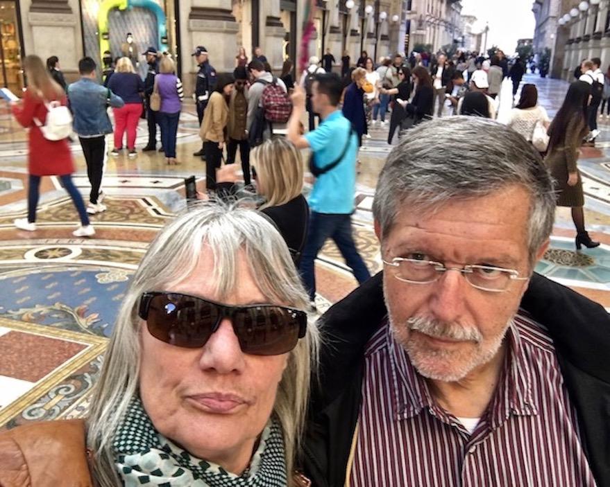 Mitelpunkt Mosaikboden der Galleria Vittorio Emanuele II Mailand Italien