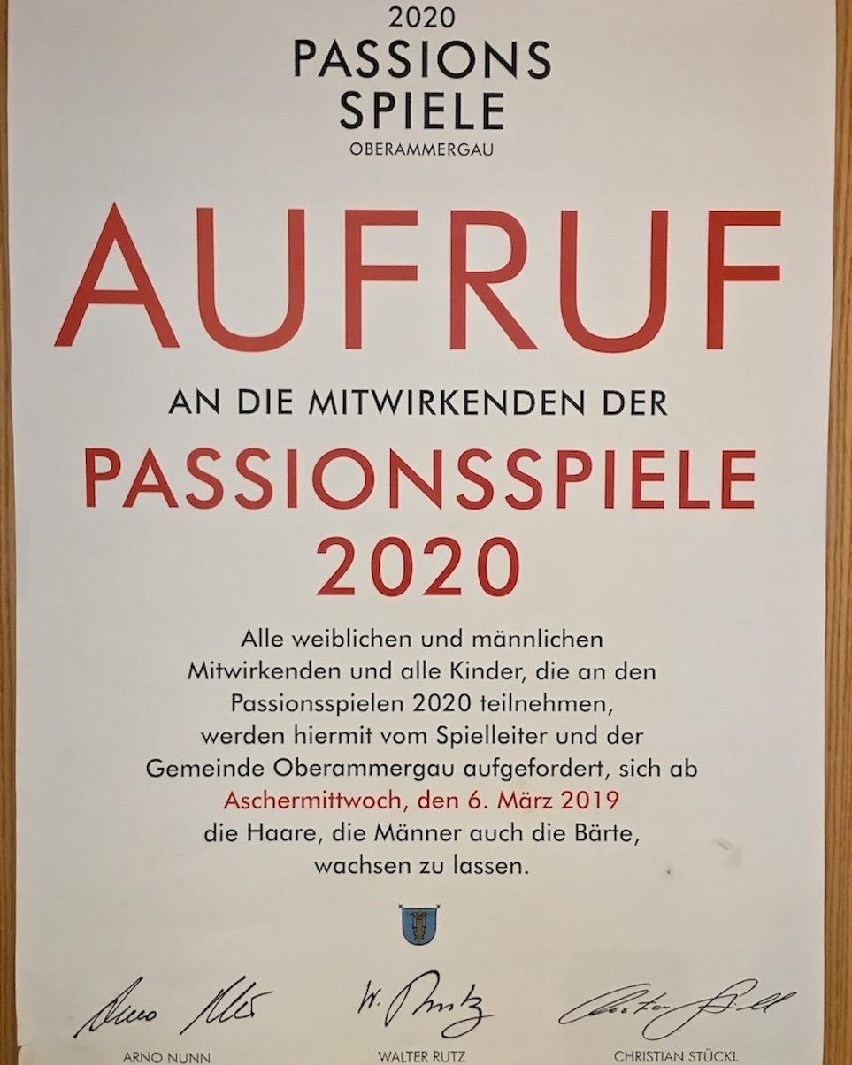 Oberammergau Deutschland Plakataufruf