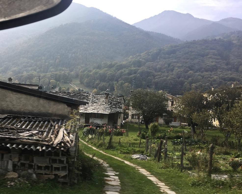 Orte im Valle Vareita Piemont Italien