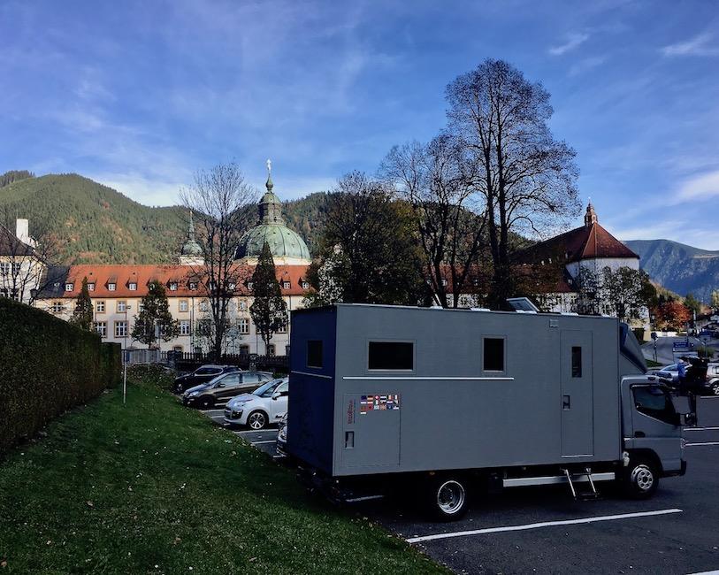 Parkplatz Kloster Ettal für mole-on-tour Deutschland