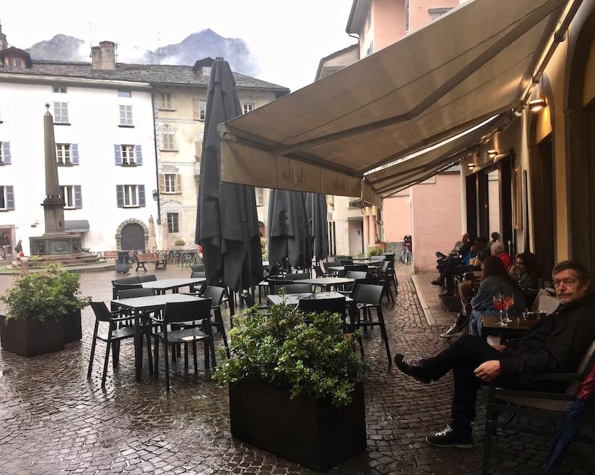 Piazza Pestalozzi Chiavenna Italien