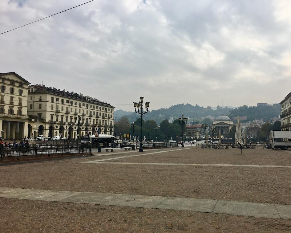 Piazza Vittorio Veneto am Po Turin Italien