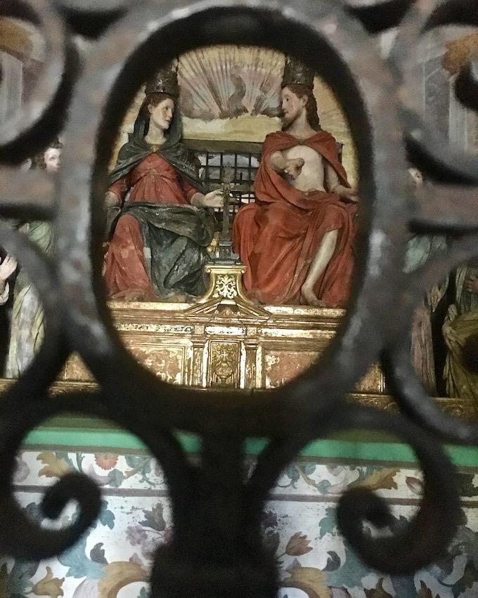 Sacro Monte d Orta Kapelle IX Innenansicht Orta San Giulio am Ortasee Piemont Italien