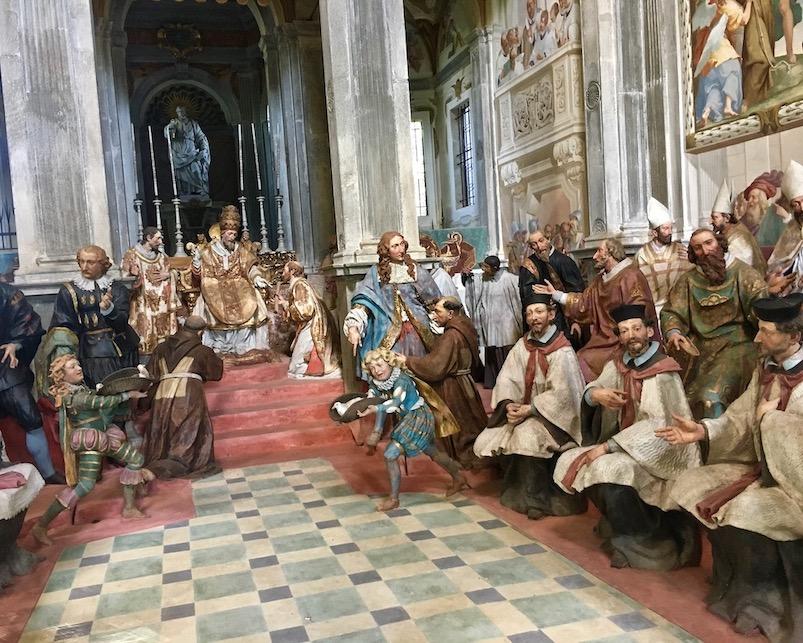 Sacro Monte d Orta Kapelle VII Innenansicht Orta San Giulio am Ortasee Piemont Italien