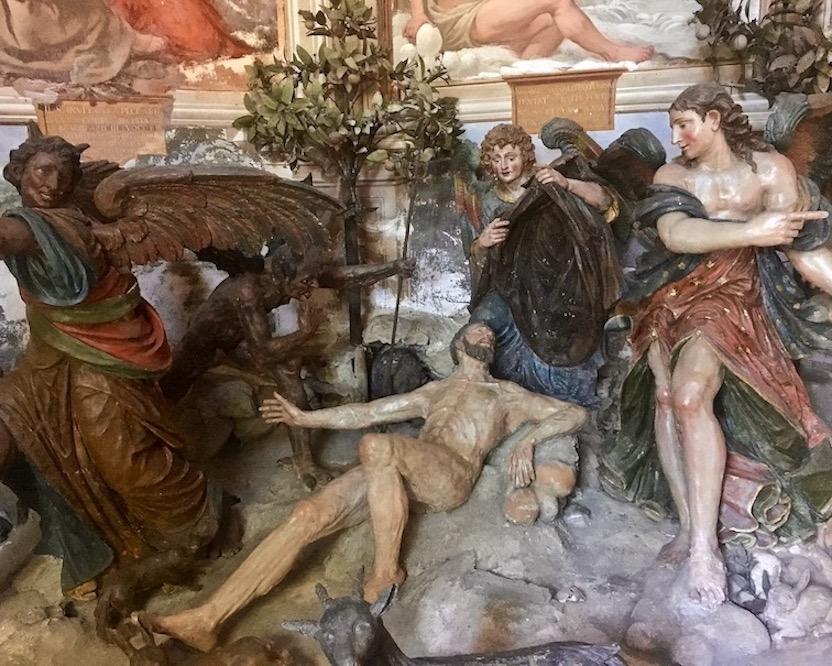 Sacro Monte d Orta Kapelle X Innenansicht Orta San Giulio am Ortasee Piemont Italien