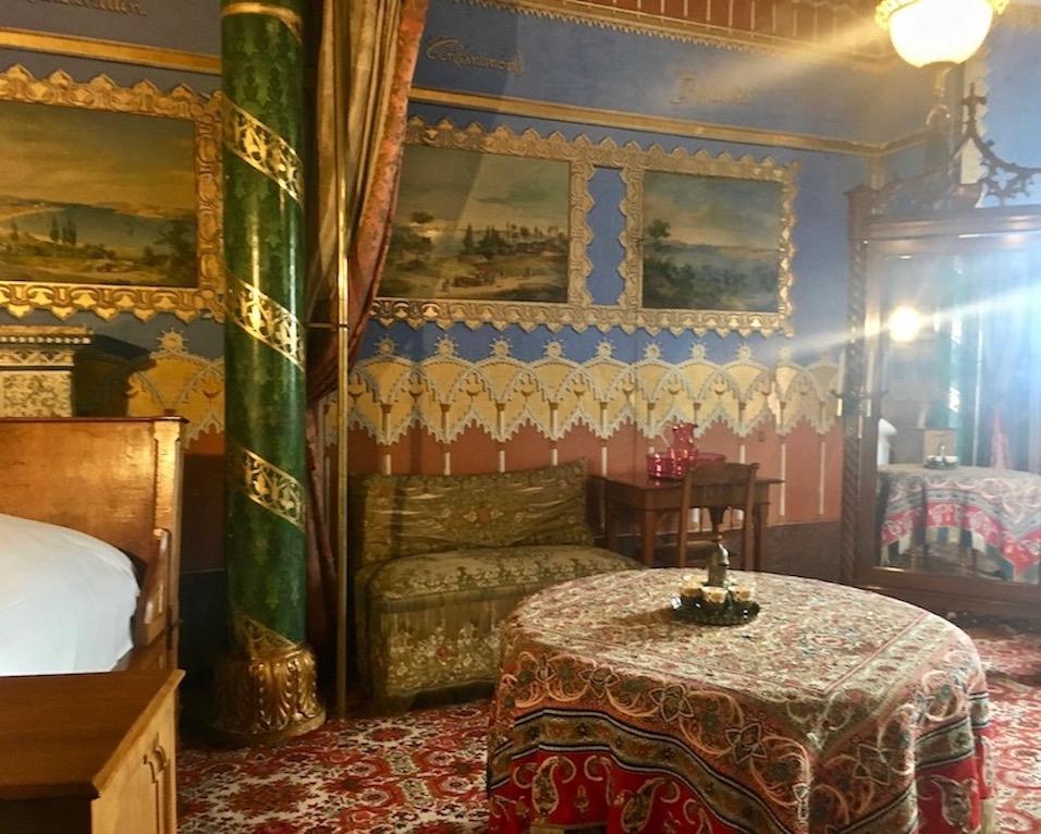 Schloss Hohenschwangau Schlafzimmer von Kronprinzessin Marie von Bayern Deutschland