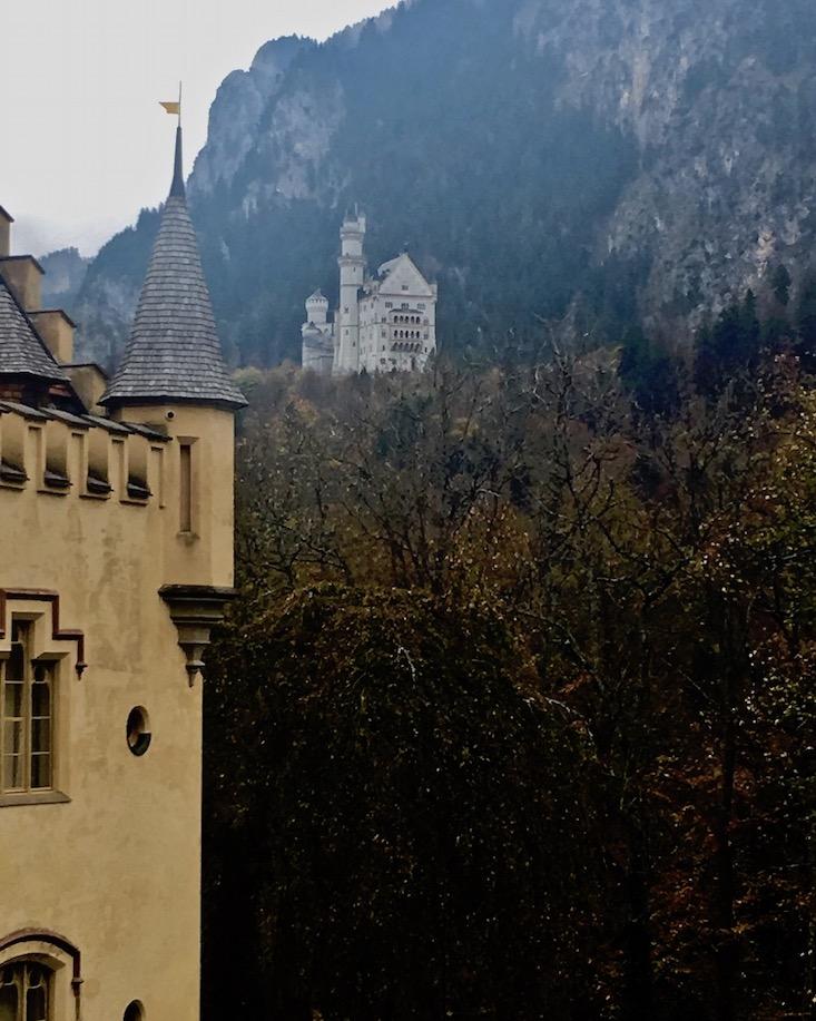 Schloss Hohenschwangau Schloss Neuschwanstein Blickkontakt Schwangau Deutschland
