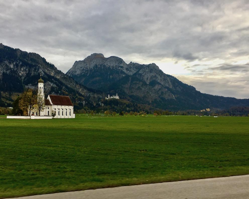 Schloss Neuschwanstein und Schloss Hohenschwangau Schwangau Deutschland