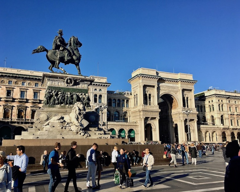 Vittorio Emanuele II mit seiner Galleria Mailand Italien