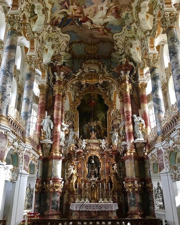 Wieskirche Weltkulturerbe Chorraum Steingaden Deutschland