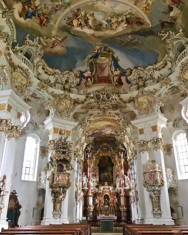 Wieskirche Weltkulturerbe Innenraum Steingaden Deutschland