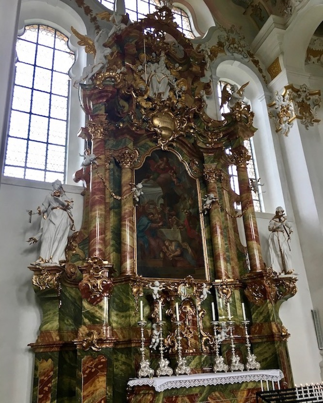 Wieskirche Weltkulturerbe Linker Seitenaltar Steingaden Deutschland