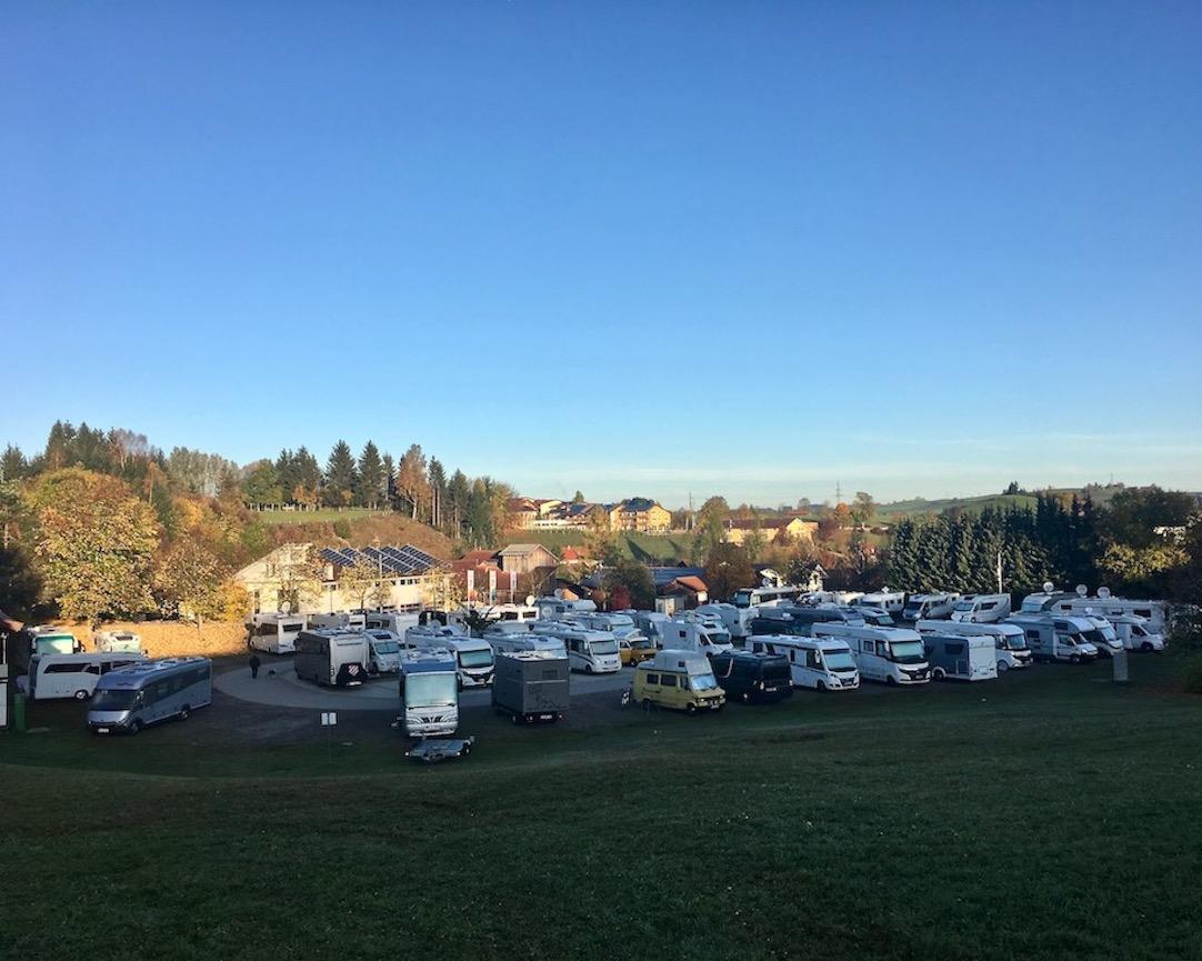 Wohnmobilstellplatz Alpspitzbahn Nesselwang für mole-on-tour Dutschland