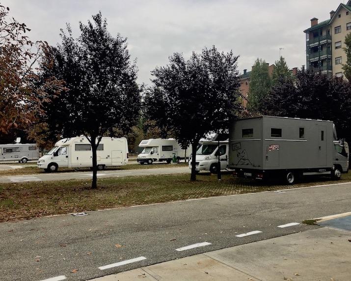 Wohnmobilstellplatz Caio Mario Turin Italien für mole-on-tour