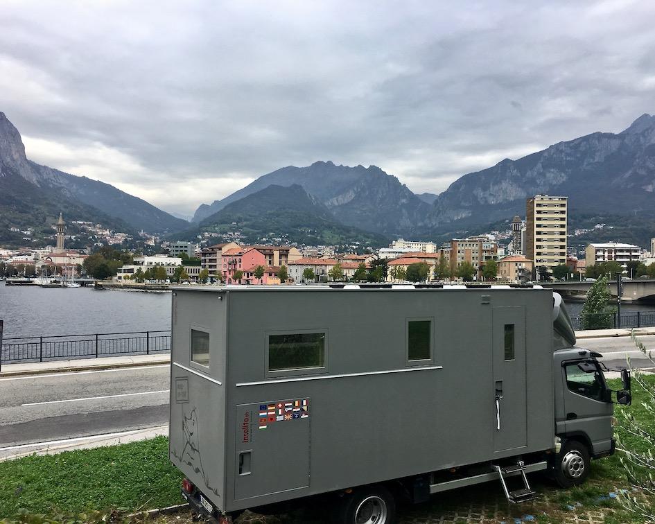 Wohnmobilstellplatz Lecco Comer-See Italien für mole-on-tour