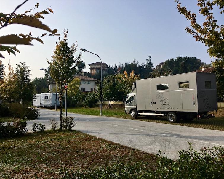 Wohnmobilstellplatz in Saluzzo Piemont Italien für mole-on-tour