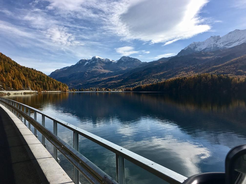 entlang des St.Moritz-See Schweiz