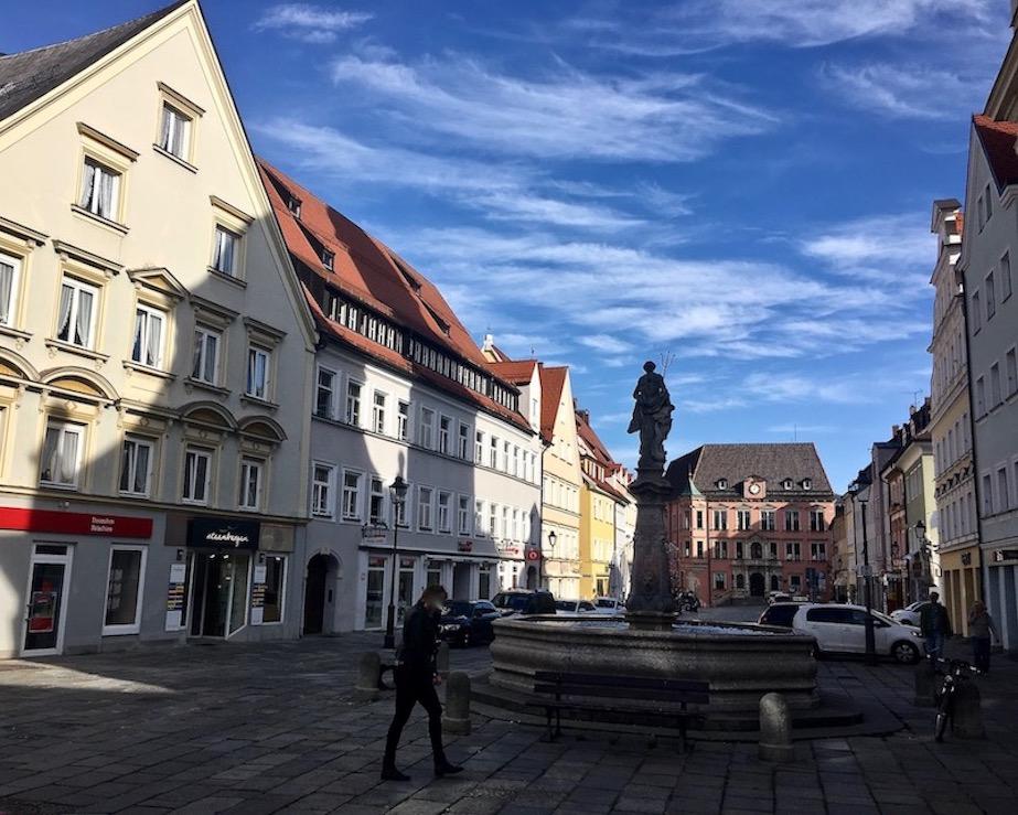 Altstadt Kaufbeuren Neptunbrunnen Deutschland