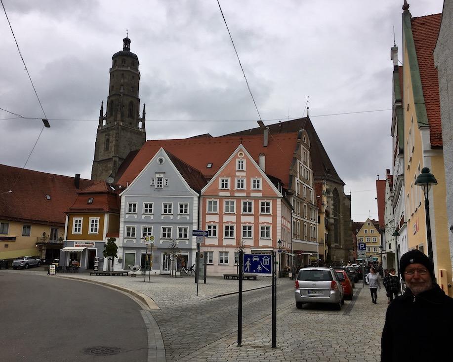 Altstadt in Nördlingen Daniel-Turm Deutschland