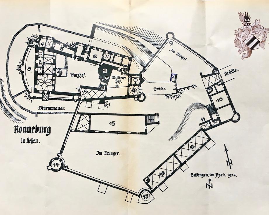 Burg Ronneburg Grundriss Deutschland