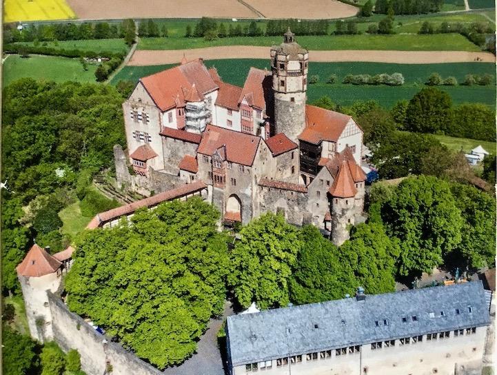 Burg Ronneburg Luftbild Deutschland