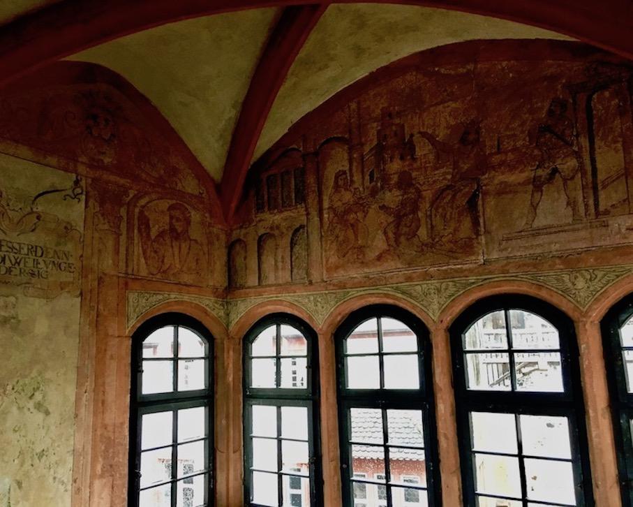 Burg Ronneburg Wandmalerei Deutschland