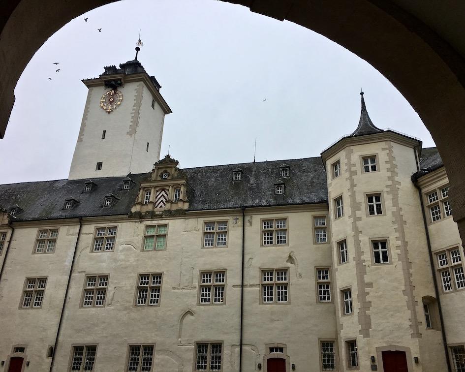 Deutschordenschloss Innenhof Bad Mergentheim Deutschland