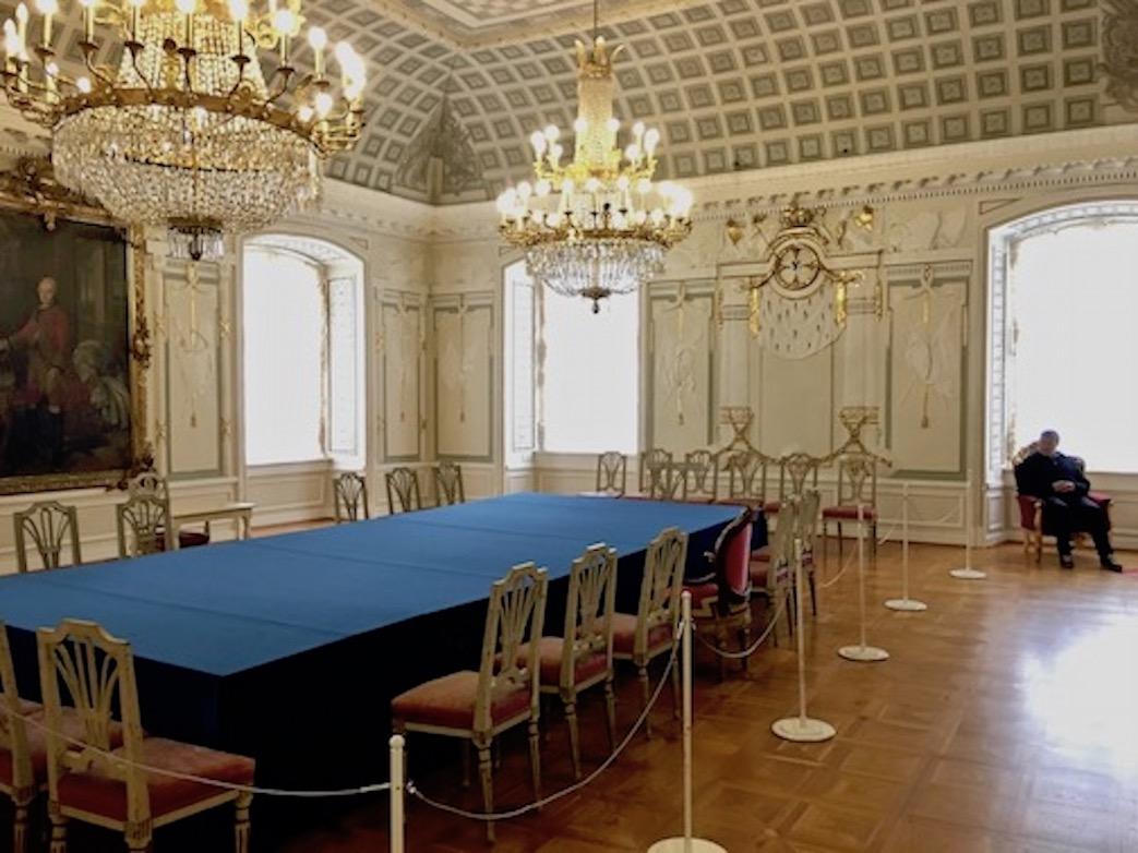 Der Kapitelsaal des Deutschen Orden im Schloss Mergentheim Deutschland