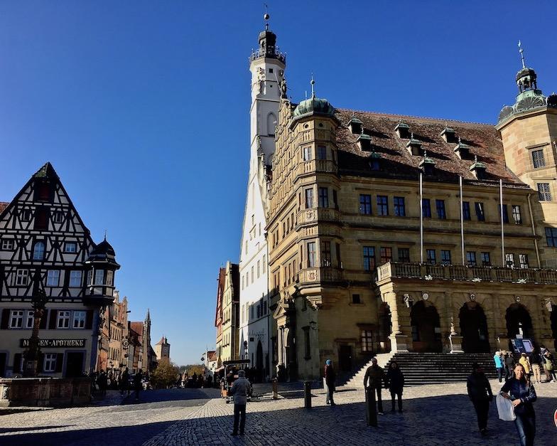 Marktplatz Rothenburg ob der Tauber Deutschland