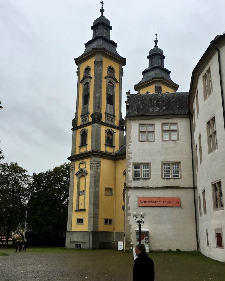 Turm der Schlosskirche Bad Mergentheim Deutschland