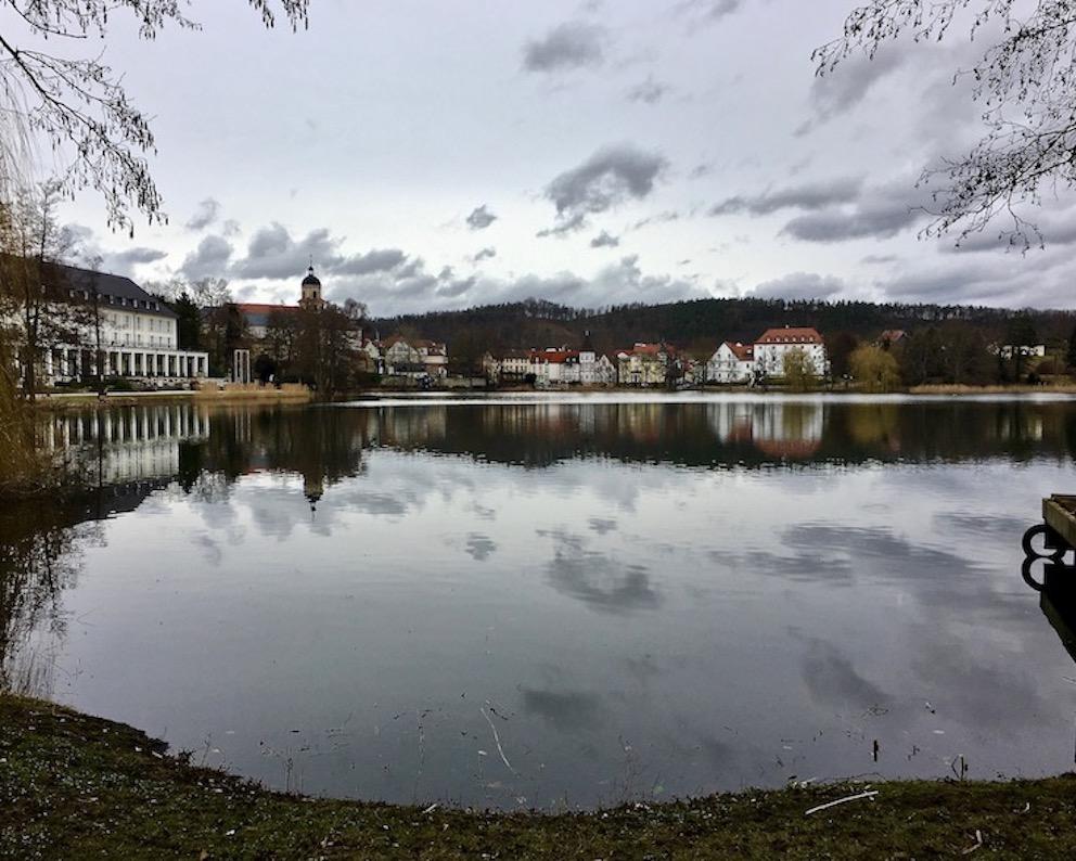Bad Salzungen Burgsee Thüringen Deutschland