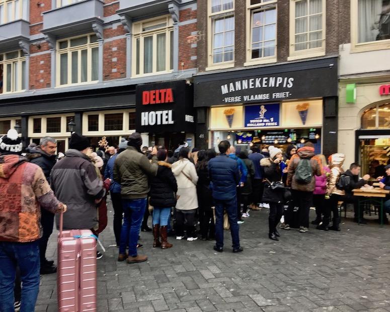 Die besten Fritten in Amsterdam Niederlande
