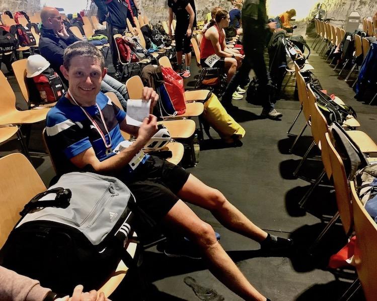 Jens nach dem Halbmarathon 2020 in Merkers Thüringen
