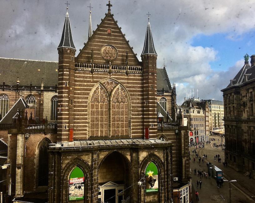 Nieuwe Kerk Blick auf den Dam Amsterdam Niederlande