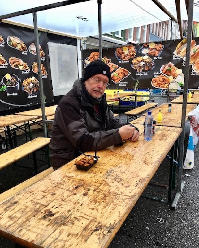 Pause auf dem Albert Cuyp-Market Amsterdam Niederlande