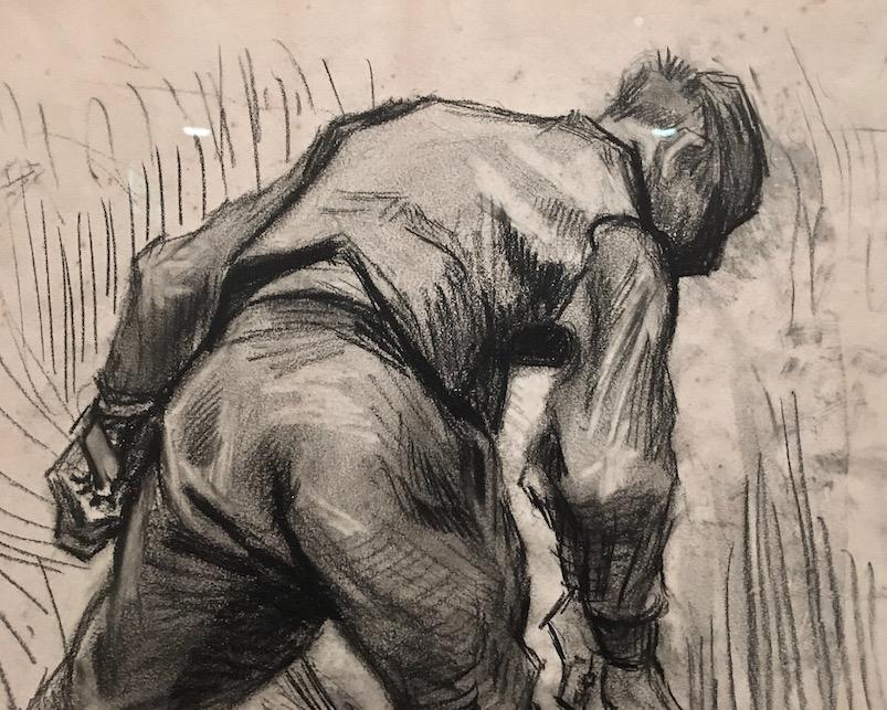 Vincent van Gogh Der Mäher Detail Van-Gogh-Museum Amsterdam Niederlande