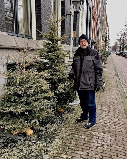 Weihnachtsbäume in Amsterdam