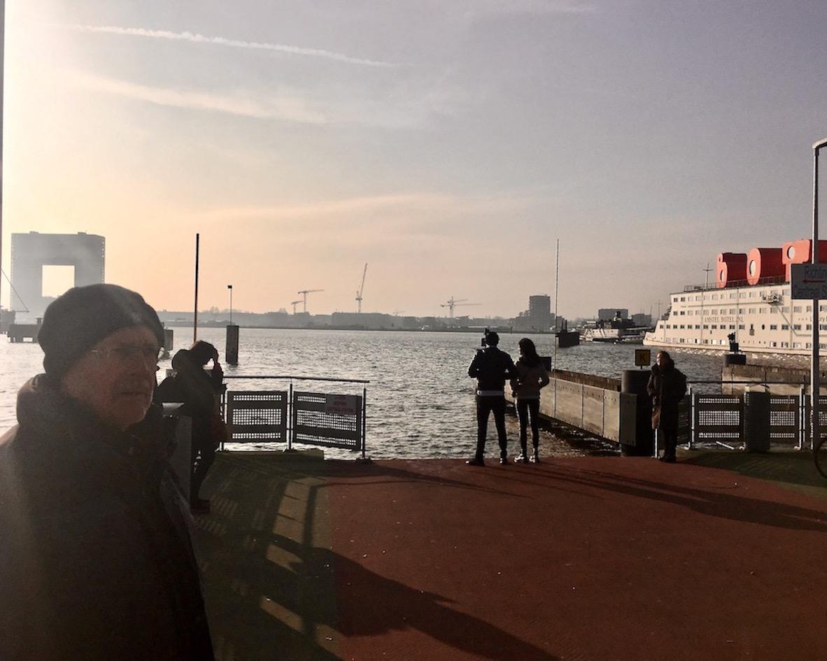 an der Fähre NDSM-Werft Amsterdam Niederlande