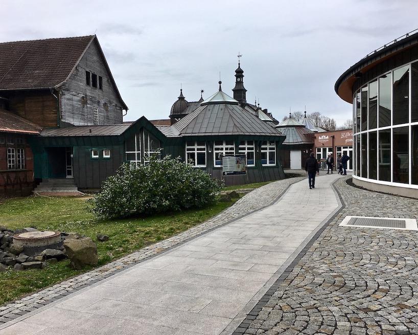 auf dem Weg zur Solewelt Bad Salzungen Thüringen Deutschland