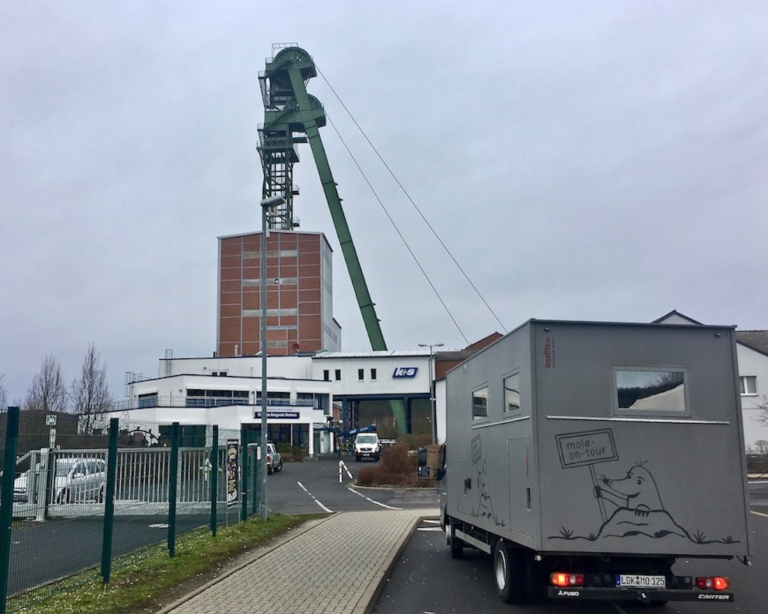 mole-on-tour Erlebnis Bergwerk Merkers Thüringen Deutschland