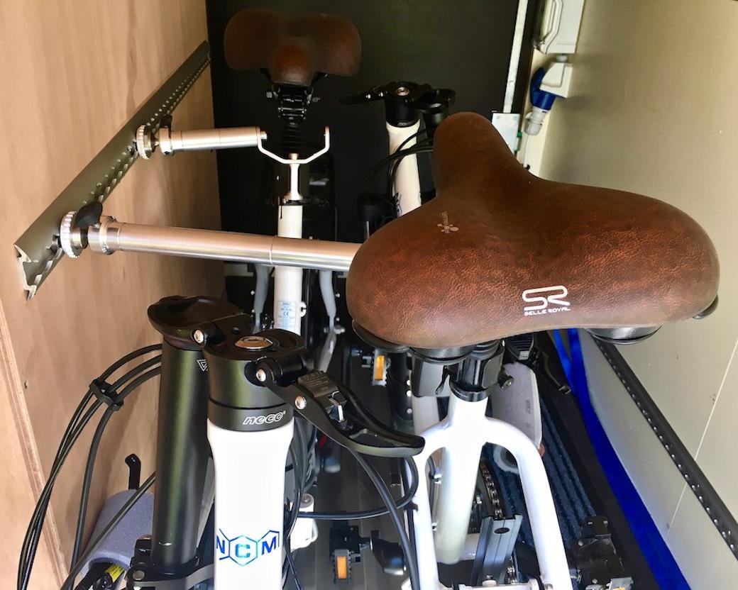 Bike-holder Sytem für die Heckgarage