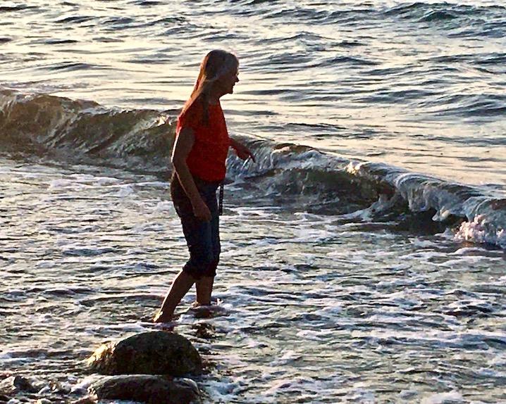 Christas Füße in der Ostsee