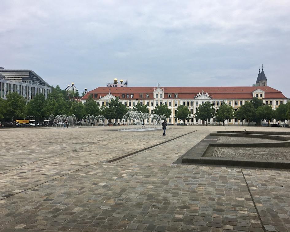 Domplatz Magdeburger-Dom Magdeburg Deutschland