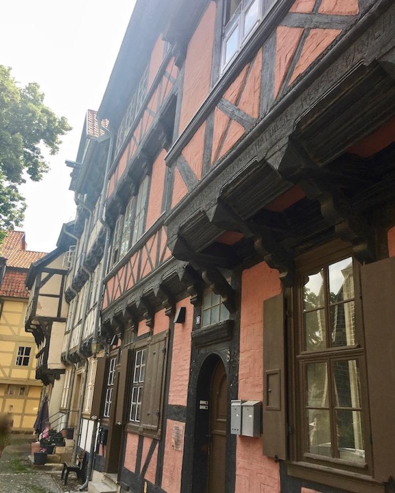 Fachwerkhäuser in Quedlinburg Deutschland