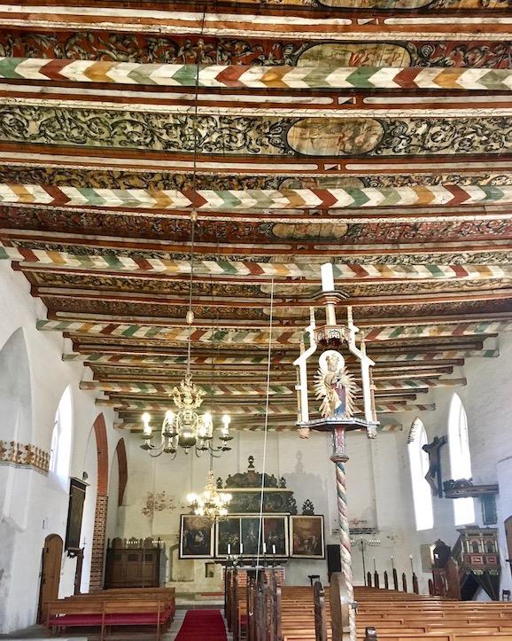 Heiligen-Geist-Kirche Holzdecke Wismar Deutschland