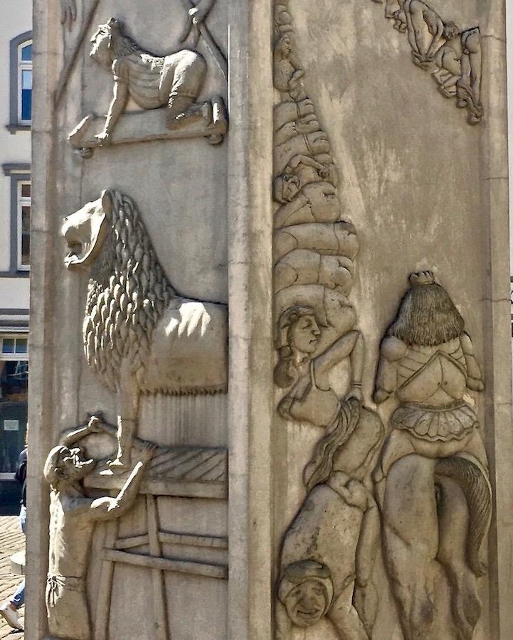 Löwendenkmal Schwerin Detail