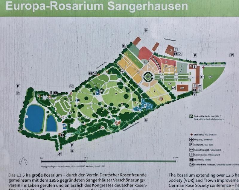 Lageplan Europa-Rosarium Sangerhausen Deutschland