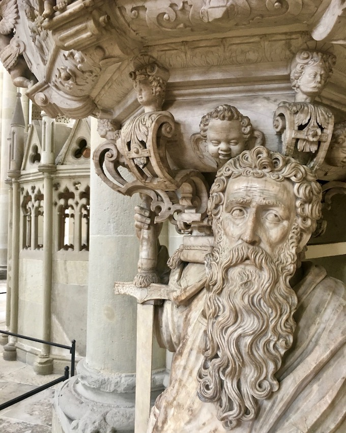 Magdeburger-Dom Renaissance-Kanzel Alabasterkanzel Detail