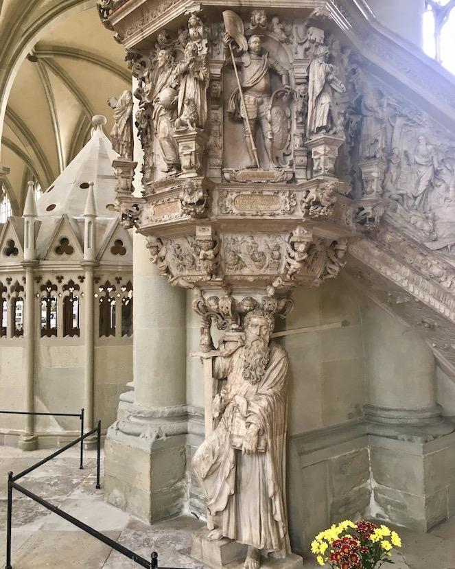 Magdeburger-Dom Renaissance-Kanzel Alabasterkanzel