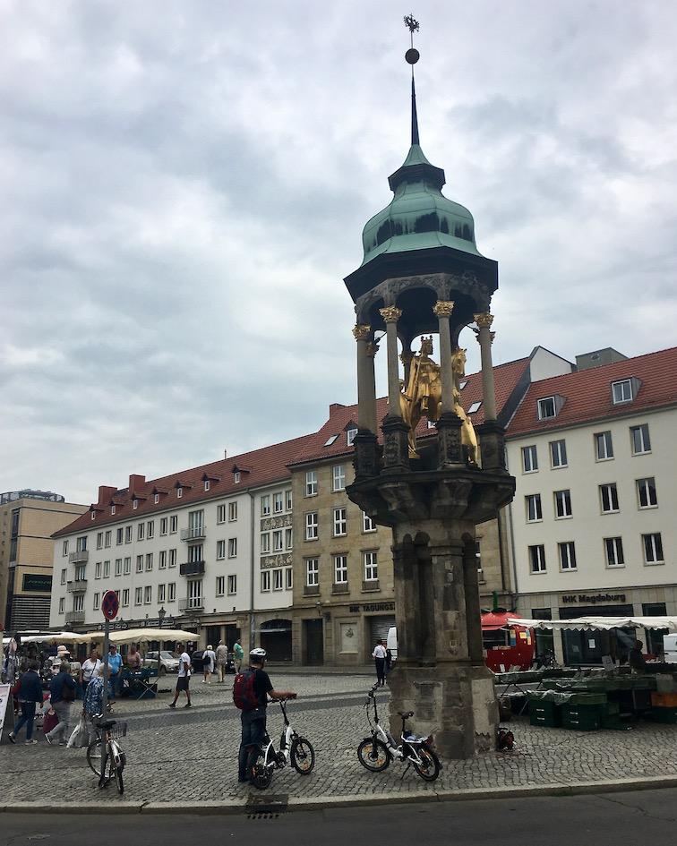 Magdeburger-Reiter am Alter-Markt Magdeburg Deutschland